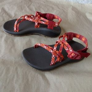 New Chaco Z Cloud X Standard Peach Red Sandals 6